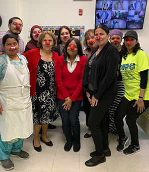 staff with red noses