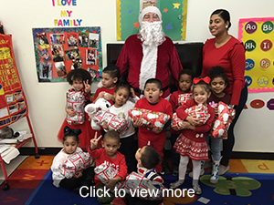 photos from Santa's visit to MARC Academy