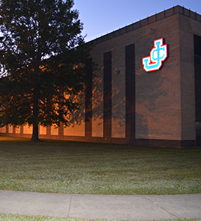 evening view of school building