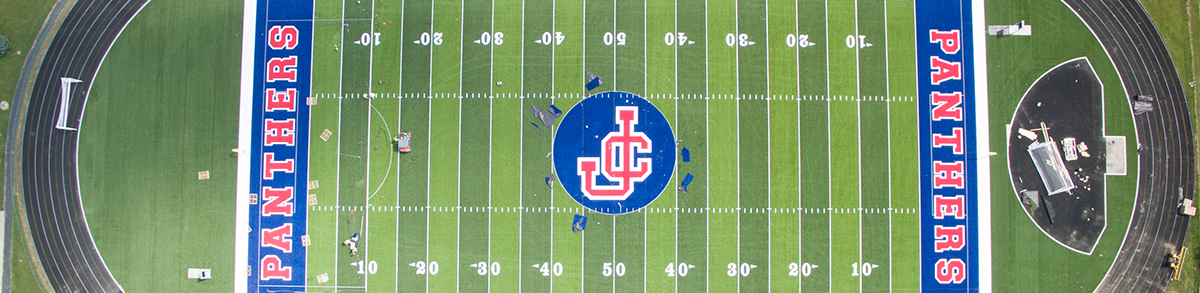 Aerial view of Jennings County High School Football Field - Panthers