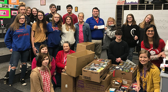 Music Department donates to Coordinating Council