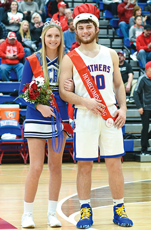 boy and girl with Homecoming crowns