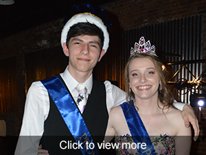 Click to view more photos of our prom queen and king