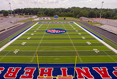 Front view of Jennings County High School football field