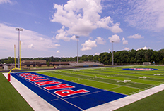 Left side view of Jennings County High School football field
