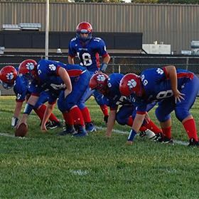 football team on field