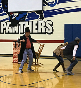 teachers doing a skit