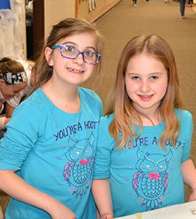 two elementary school girls
