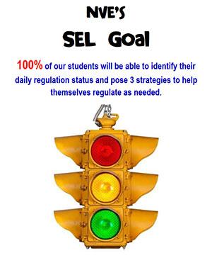 North Vernon Elementary's SEL Goal flyer