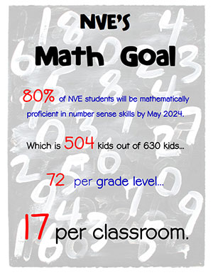 North Vernon Elementary's Math Goal flyer