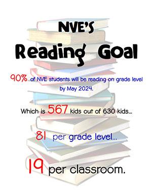 North Vernon Elementary's Reading Goal flyer