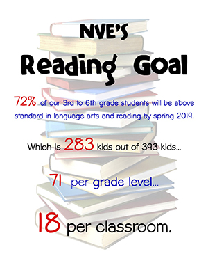 North Vernon Elementary's Reading Goal flyer