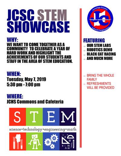 JCSC STEM Showcase Flyer