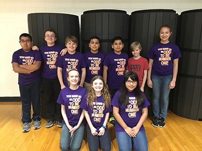 Math Bowl team members pose together