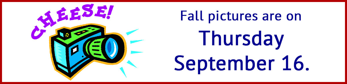 Fall pictures are on Thursday, September 16