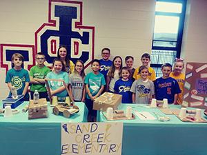 STEM showcase students
