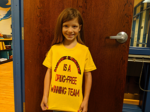 Sand Creek Elementary is a Drug-Free Winning Team shirt