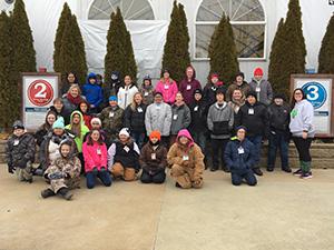 Sixth grade students and teachers at Perfect Slopes
