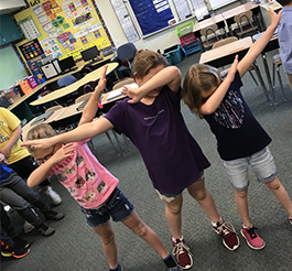 Students dab in class