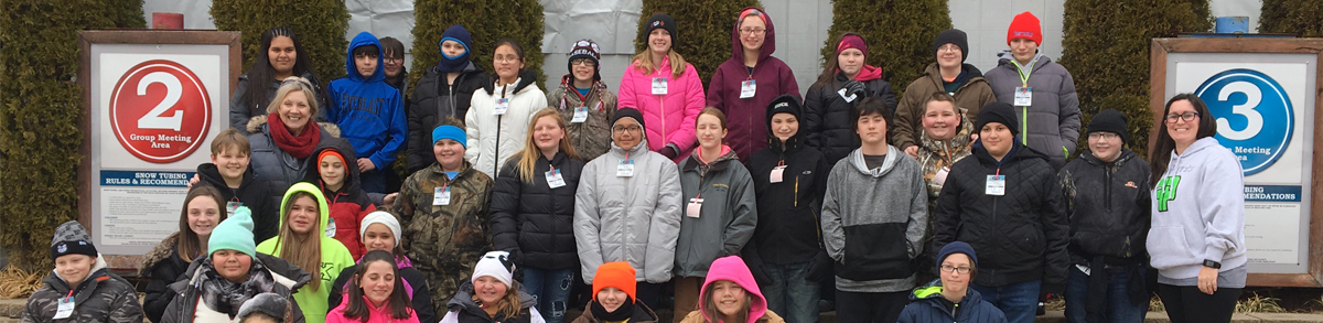 Students and teachers at Perfect Slopes