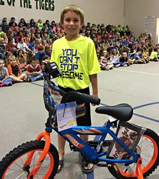 boy with a new bike