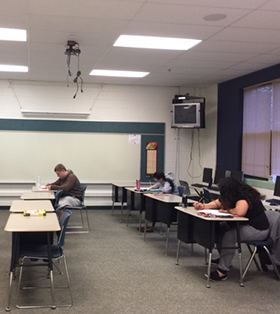Students in study center