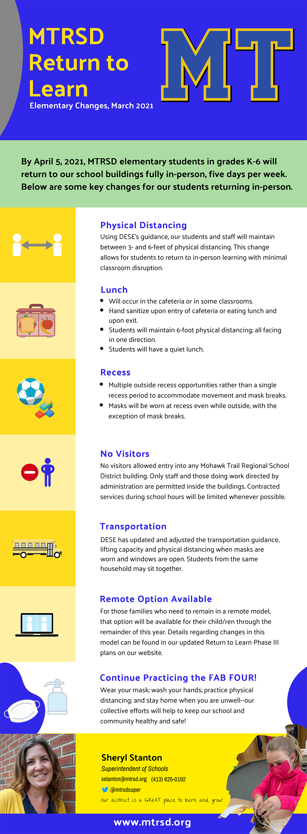 Changes for Elementary Students flyer