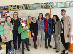 Mohawk Trail Regional School special education teacher Angela Schatz (fourth from right), of Shelburne, has been named a 2020 Excellence in Teaching Award recipient.
