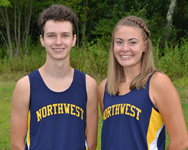 two cross country runners