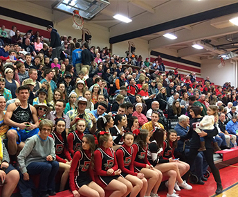 DuBois Area High School Gym filled with fans
