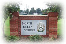 North Delta School front sign
