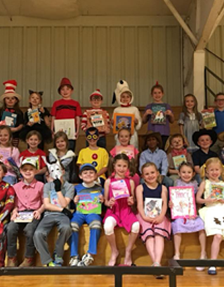 Students dressed up as literary characters