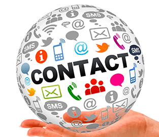 contact icons globe