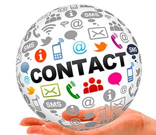 contact icons globe