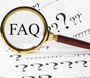 FAQ magnify glass