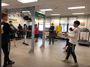 Students participate in exercises together