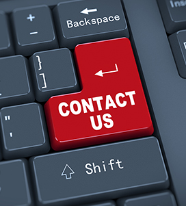 Contact Us on a keyboard