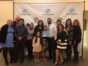 Youth of the Year Award winners pose with adults
