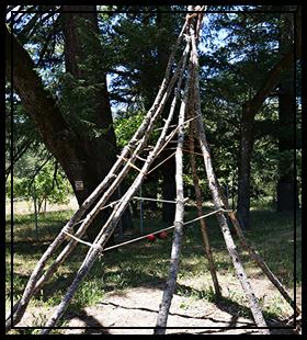 tepee on the school grounds