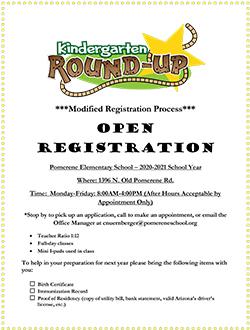 Kindergarten Roundup flyer.
