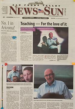 Teaching - For the love of it newspaper article