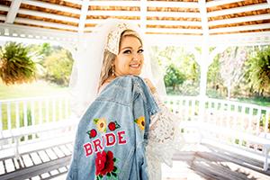 Nicole Chynoweth in wedding dress