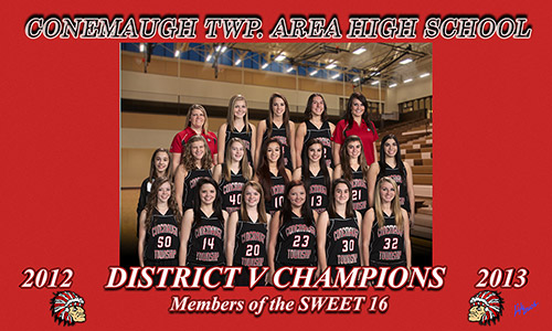Conemaugh TWP. Area High School 2012-2013 District Champions Members of the Sweet 16