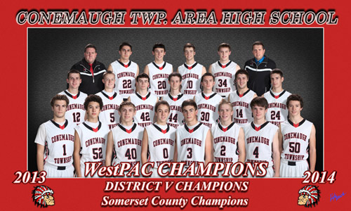 Conemaugh TWP. Area High School 2013-2014 WestPAC Champions District V Champions Somerset County Champions