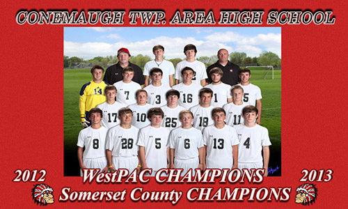 Conemaugh TWP. Area High School 2012-2013 WestPAC Champions Somerset County Champions