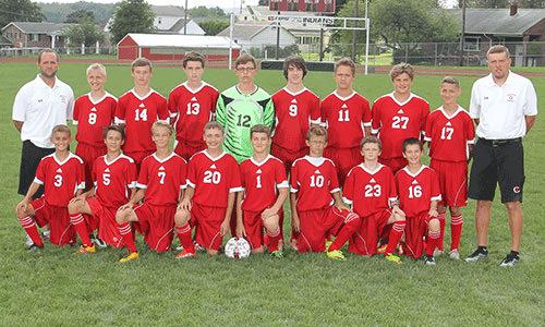 2016-2017 Junior High Boys Soccer team
