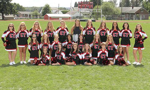 2016-2017 Junior High Cheer team