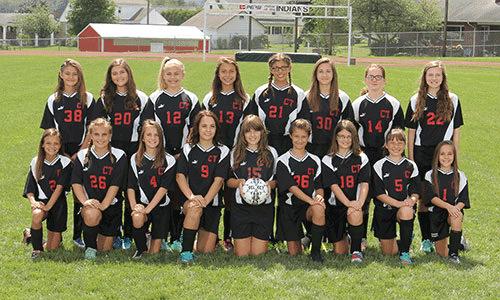 2016-2017 Junior High Girls Soccer team