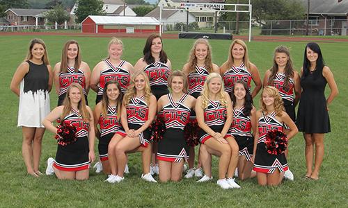 2016-2018 Varsity Cheer team