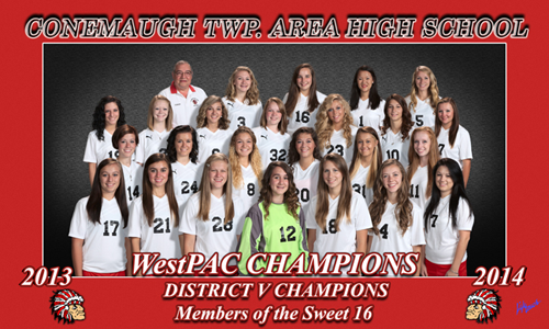 Conemaugh TWP. Area High School 2013-2014 WestPAC Champions District V Champions Members of the Sweet 16